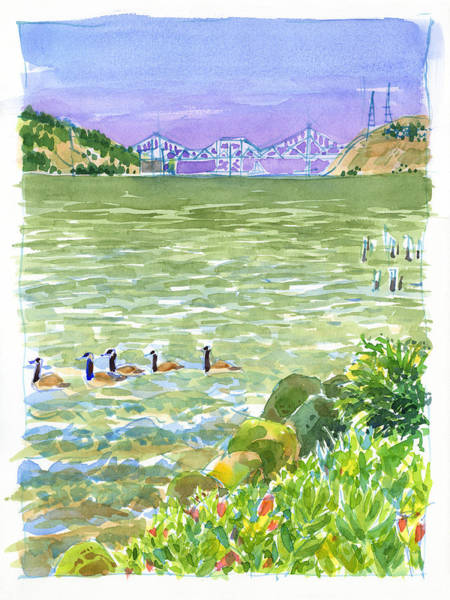 Painting - Carquinez Bridge From Benicia by Judith Kunzle
