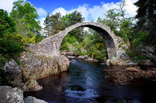 Photograph - Carr Bridge Scotland by Don and Bonnie Fink
