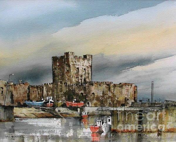 Painting - Carraigfergus Castle, Antrim by Val Byrne