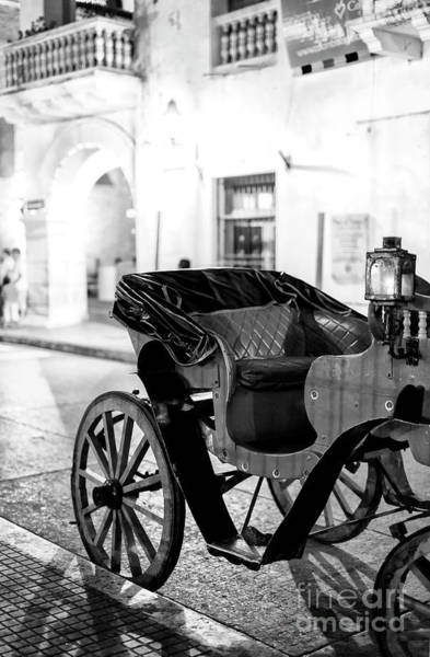 Photograph - Carriage At Night In Cartagena by John Rizzuto