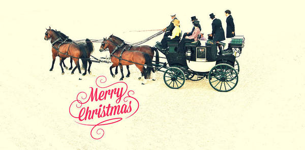 Photograph - Carriage Merry Christmas by Alice Gipson