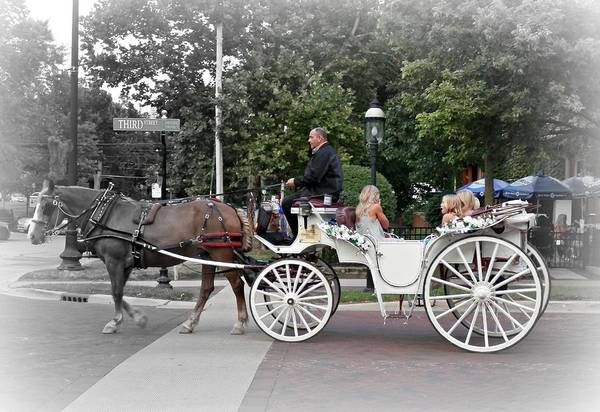 Photograph - Carriage Ride Into Yesteryear by Deborah Kunesh