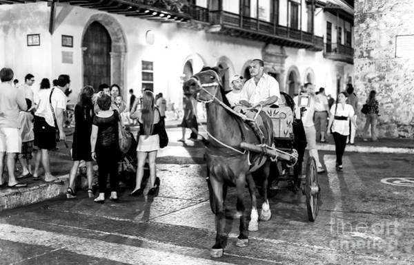 Photograph - Carriage Ride Through Cartagena by John Rizzuto