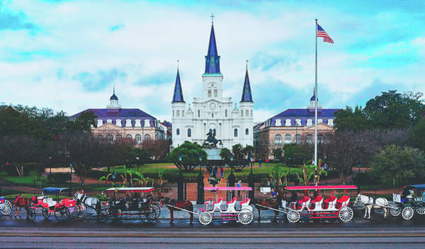 Wall Art - Photograph - Carriage Rides At Jackson Square by Pixabay