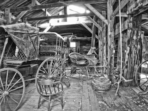 Ghosttown Photograph - Carriage Shop - Virginia City Montana by Daniel Hagerman