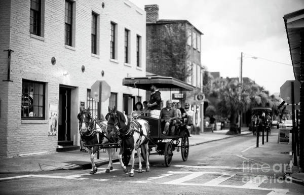 Photograph - Charleston Carriage Through City Market by John Rizzuto