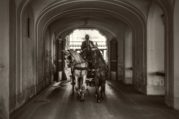 Photograph - Carriage Under The Arcade by Roberto Pagani