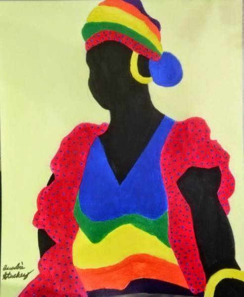 Gullah People Wall Art - Painting - Carribean Love by Quadre' Stuckey
