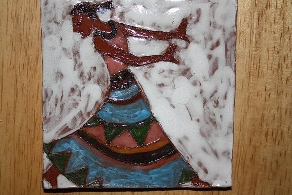 Ceramic Art - Carrie - Tile by Gloria Ssali