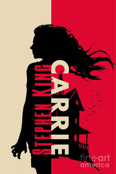 Suspense Digital Art - Carrie By Stephen King Book Cover Movie Poster Art 1 by Nishanth Gopinathan