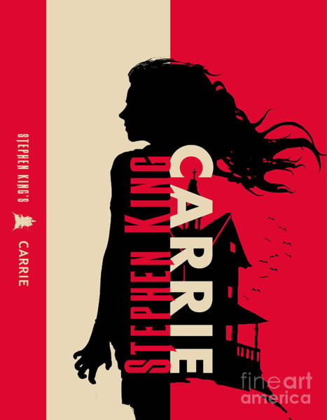 Suspense Digital Art - Carrie By Stephen King Book Cover Movie Poster Art 2 by Nishanth Gopinathan