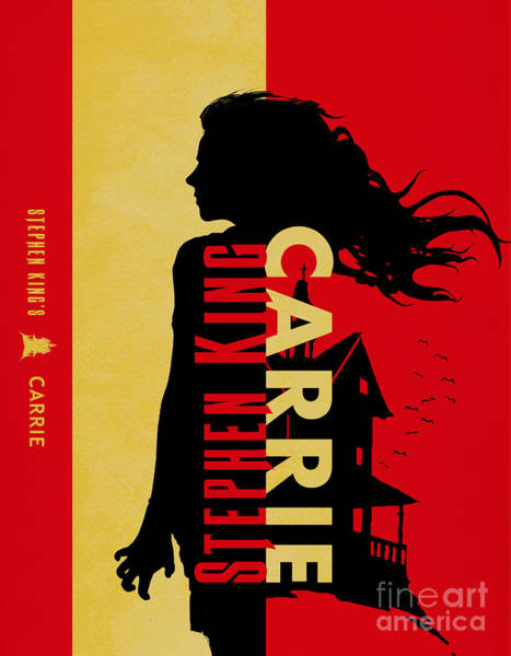 Suspense Digital Art - Carrie By Stephen King Book Cover Movie Poster Art 4 by Nishanth Gopinathan