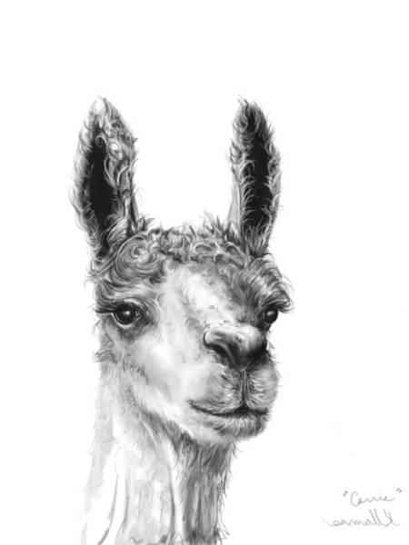 Llama Drawing - Carrie by K Llamas