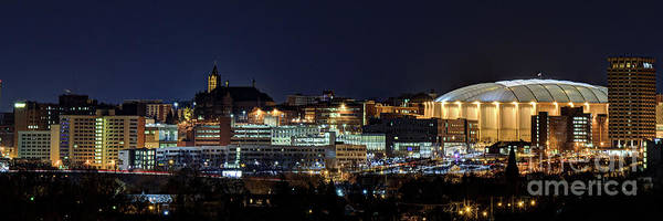 Photograph - Carrier Dome And Syracuse Skyline Panoramic View by Rod Best