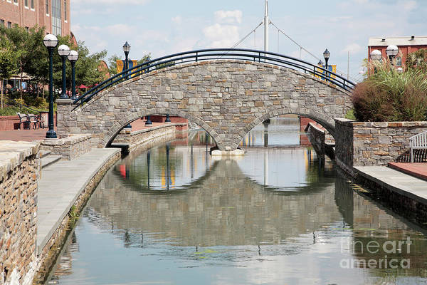 Photograph - Carroll Creek Stone Arch Bridge In Frederick Maryland by William Kuta