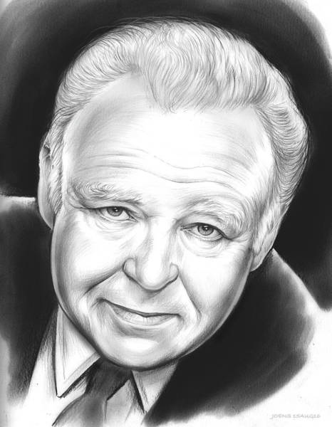 Wall Art - Drawing - Carroll O'connor by Greg Joens