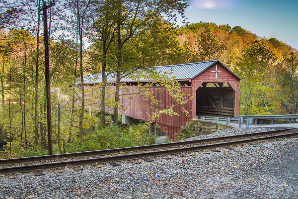 Photograph - Carrollton Covered Bridge by Jack R Perry