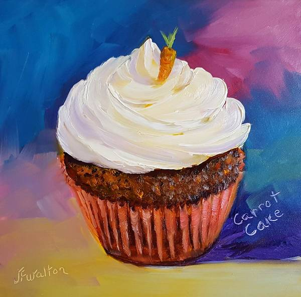 Painting - Carrot Cake by Judy Fischer Walton