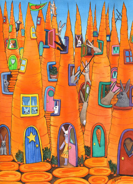 Painting - Carrot Condos by Catherine G McElroy