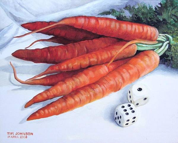 Painting - Carrots by Tim Johnson