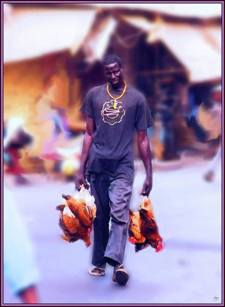 Photograph - Carrying Chickens To Dakar by Wayne King
