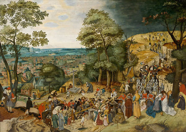 Painting - Carrying Of The Cross by Workshop of Pieter Brueghel the Younger