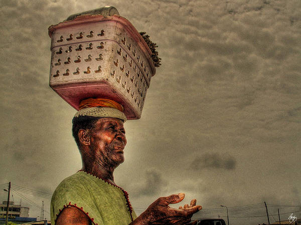 Photograph - Carrying The Basket by Wayne King