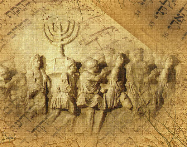 Judaica Digital Art - Carrying The History by Boghrat Sadeghan