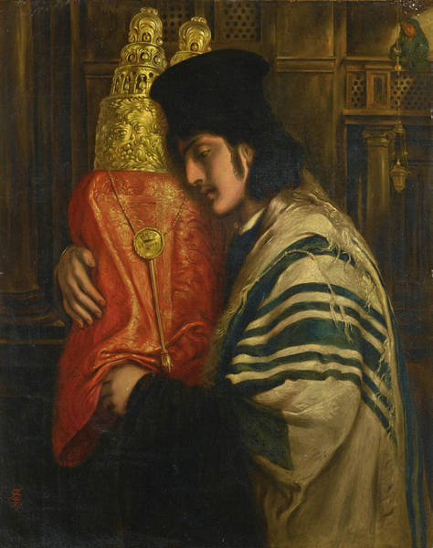 Pray For Love Wall Art - Painting - Carrying The Scrolls Of The Law by Simeon Solomon