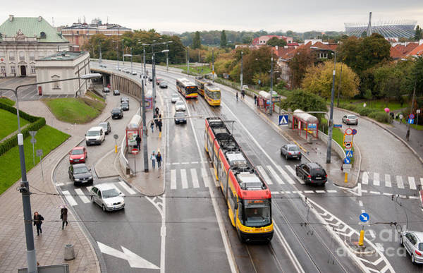 Wall Art - Photograph - Cars Buses And Tramcars Public by Arletta Cwalina
