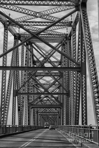 Wall Art - Photograph - Cars Crossing Steel Bridge In Owensboro, Ky, Usa by Patricia Hofmeester