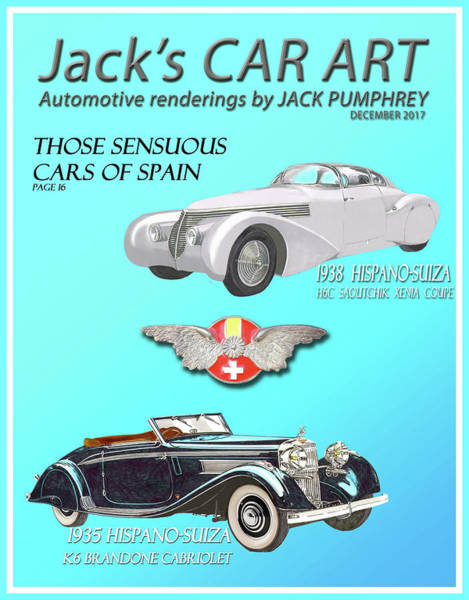 Wall Art - Painting - Cars Of Spain Magazine Cover by Jack Pumphrey