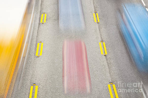 Photograph - Cars Speeding Along Highway by Bryan Mullennix