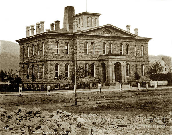 Photograph - Carson City Mint Nevada Circa 1870 by California Views Archives Mr Pat Hathaway Archives