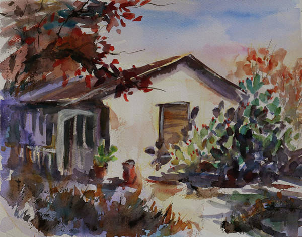Painting - Carson House California Landscape 6 by Xueling Zou