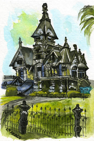 Eureka Painting - Carson Mansion by Lynn Takacs