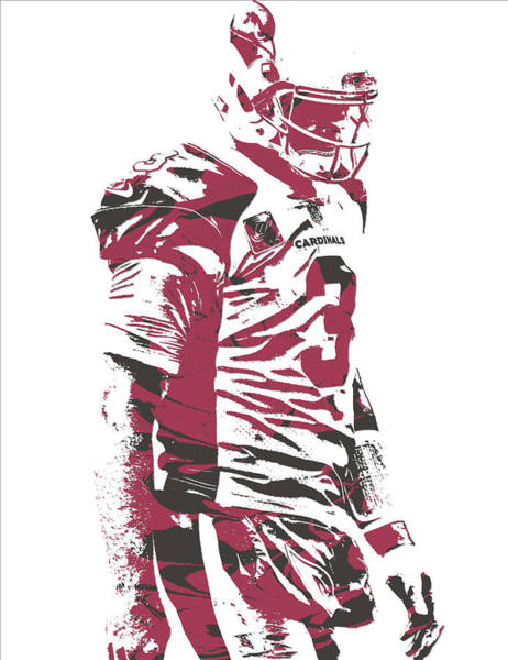 Cardinal Mixed Media - Carson Palmer Arizona Cardinals Pixel Art 6 by Joe Hamilton