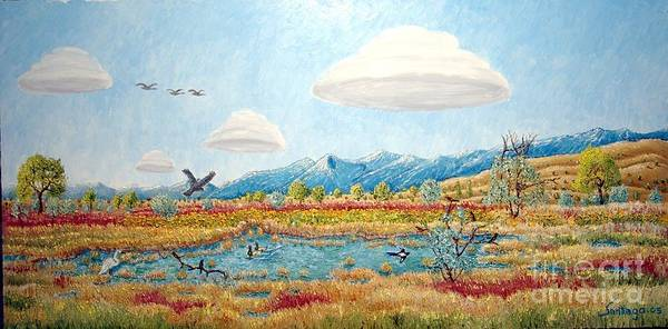 Painting - Carson Valley Wetlands by Santiago Chavez