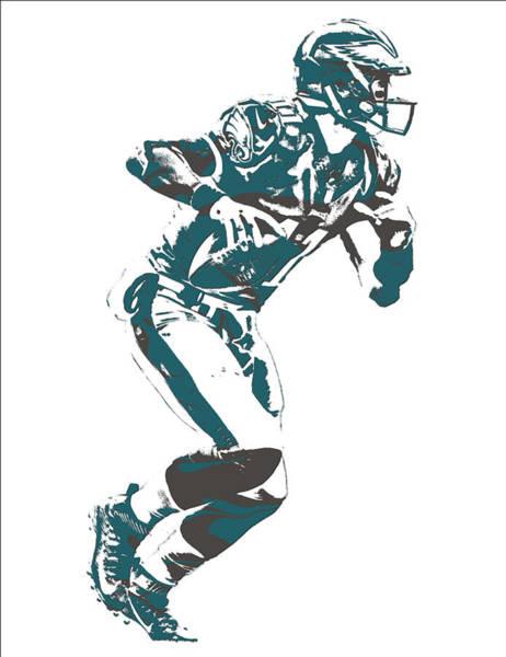 Bird Of Prey Mixed Media - Carson Wentz Philadelphia Eagles Pixel Art 10 by Joe Hamilton