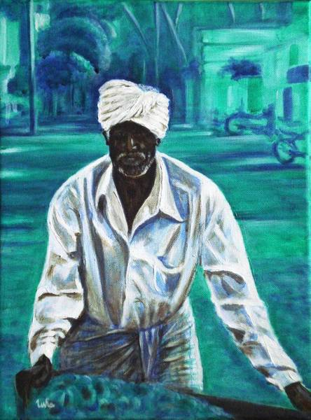 Usha Painting - Cart Vendor by Usha Shantharam