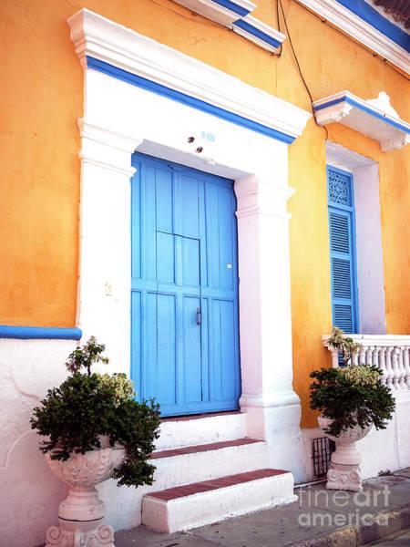 Cartagena Photograph - Cartagena Blue Door by John Rizzuto