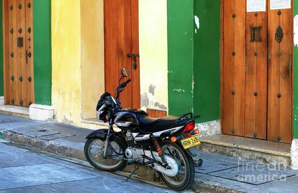 Photograph - Cartagena Motorcycle by John Rizzuto