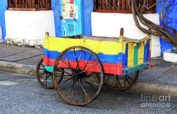 Photograph - Cartagena Street Colors by John Rizzuto
