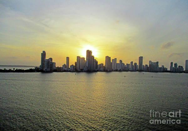 Wall Art - Photograph - Cartagena Sunset 2 by Randall Weidner