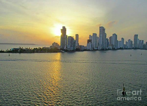 Wall Art - Photograph - Cartagena Sunset 4 by Randall Weidner