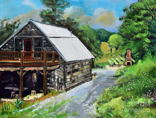 Painting - Cartecay Tasting Barn - Vineyard - Ellijay by Jan Dappen