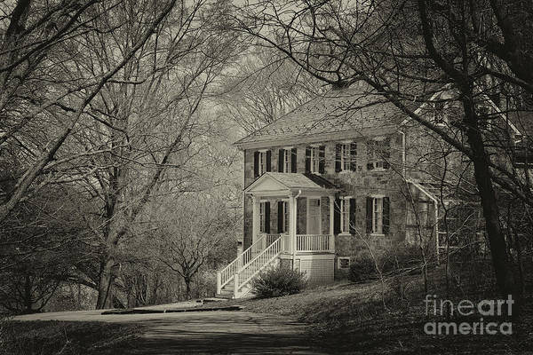 Photograph - Carter Archer Mansion Black And White by Karen Adams