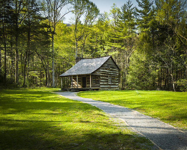 Photograph - Carter Shields Cabin by Jack R Perry