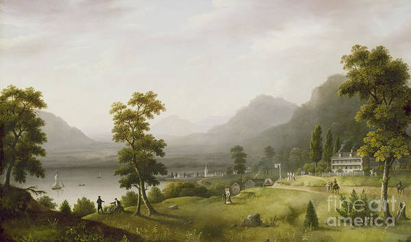 Hills Wall Art - Painting - Carter's Tavern At The Head Of Lake George by Francis Guy