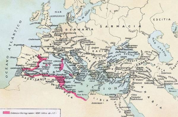 Influence Drawing - Carthaginian Colonies And Area Of by Vintage Design Pics